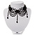 Chic Victorian/ Gothic/ Burlesque Black Bead Choker Necklace - view 3