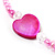 Bright Pink Heart Shell & Bead Long Necklace -100cm Length - view 4