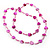 Bright Pink Heart Shell & Bead Long Necklace -100cm Length - view 6