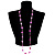 Bright Pink Heart Shell &amp; Bead Long Necklace -100cm Length - view 2