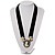Stunning Pearl Cameo Black Velour Ribbon Necklace (Silver Tone) - view 2