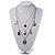 Silver Multistrand Cameo Necklace - 64cm Length