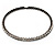 Gun Metal Clear Swarovski Flex Choker Necklace - view 1