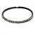 Gun Metal Clear Swarovski Flex Choker Necklace - view 8