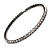 Gun Metal Clear Swarovski Flex Choker Necklace - view 2