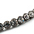 Gun Metal Clear Swarovski Flex Choker Necklace - view 5