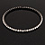 Gun Metal Clear Swarovski Flex Choker Necklace - view 7