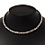 Gun Metal Clear Swarovski Flex Choker Necklace - view 3