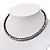 Gun Metal Clear Swarovski Flex Choker Necklace - view 12