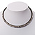 Gun Metal Clear Swarovski Flex Choker Necklace - view 4