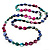 Long Multicoloured Shell Necklace -134cm Length - view 1
