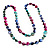 Long Multicoloured Shell Necklace -134cm Length - view 6