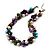 Exquisite Faux Pearl & Shell Composite Silver Tone Link Necklace (Multicoloured)