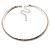 Thin Clear Swarovski Crystal Choker Necklace (Silver Plated) - view 7