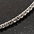 Thin Clear Swarovski Crystal Choker Necklace (Silver Plated) - view 4