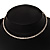 Thin Clear Swarovski Crystal Choker Necklace (Silver Plated) - view 3