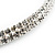 2-Row Swarovski Crystal Choker Necklace (Silver Plated) - view 10