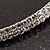 2-Row Swarovski Crystal Choker Necklace (Silver Plated) - view 3