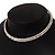 2-Row Swarovski Crystal Choker Necklace (Silver Plated) - view 12