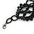 Jet Black Gothic Costume Choker Necklace (Black Tone Metal) - view 5