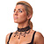 Jet Black Gothic Costume Choker Necklace (Black Tone Metal) - view 9