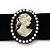Black Velour Ribbon Pearl 'Cameo' Choker Necklace - 30cm Length & 8cm Extension - view 2