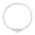 Rhodium Plated Mesh Necklace With Crystal Ring - 40cm Length - view 7