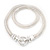 Rhodium Plated Mesh Necklace With Crystal Ring - 40cm Length - view 10