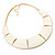 Ivory Enamel Egyptian Bib Style Choker Necklace In Gold Plating - 38cm Length /7cm Extension - view 4