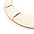 Ivory Enamel Egyptian Bib Style Choker Necklace In Gold Plating - 38cm Length /7cm Extension - view 5