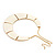Ivory Enamel Egyptian Bib Style Choker Necklace In Gold Plating - 38cm Length /7cm Extension - view 8