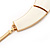 Ivory Enamel Egyptian Bib Style Choker Necklace In Gold Plating - 38cm Length /7cm Extension - view 7