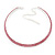2-Row Pink Swarovski Crystal Choker Necklace (Silver Plated)