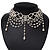 Chic Victorian/ Gothic/ Burlesque White Bead Choker Necklace