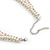 White Simulated Pearl Clear Crystal Felt Peter Pan Collar Necklace In Silver Plating - 28cm Length/ 7cm Extension - view 5