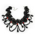Stunning Jet Black/Red Acrylic Bead Lacy Style Choker - 28cm Length/ 6cm Extension - view 3