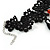 Stunning Jet Black/Red Acrylic Bead Lacy Style Choker - 28cm Length/ 6cm Extension - view 6
