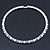 Silver Plated Clear/ Lavender Swarovski Flex Choker Necklace