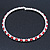 Silver Plated Clear/ Red Swarovski Flex Choker Necklace