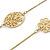 Long 2 Strand Matt Gold Floral Necklace - 98cm L - view 3