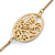 Long 2 Strand Matt Gold Floral Necklace - 98cm L - view 6