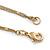 Long 2 Strand Matt Gold Floral Necklace - 98cm L - view 4