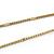 Long 2 Strand Matt Gold Floral Necklace - 98cm L - view 7