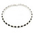 Silver Plated Clear/ Black Swarovski Flex Choker Necklace