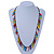 Funky Multicoloured Zipper Cotton Cord Long Necklace - 82cm L - view 5