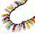 Funky Multicoloured Zipper Cotton Cord Long Necklace - 82cm L - view 2