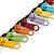 Funky Multicoloured Zipper Cotton Cord Long Necklace - 82cm L - view 3