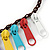Funky Multicoloured Zipper Cotton Cord Long Necklace - 82cm L - view 4