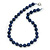 12mm Dark Blue Lapis Round Semi-Precious Stone Necklace With Spring Ring Clasp - 44cm L