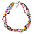 7-8mm Multicoloured Baroque Freshwater Pearl, 3 Strand Twisted Necklace - 46cm L/ 5cm Ext - view 1